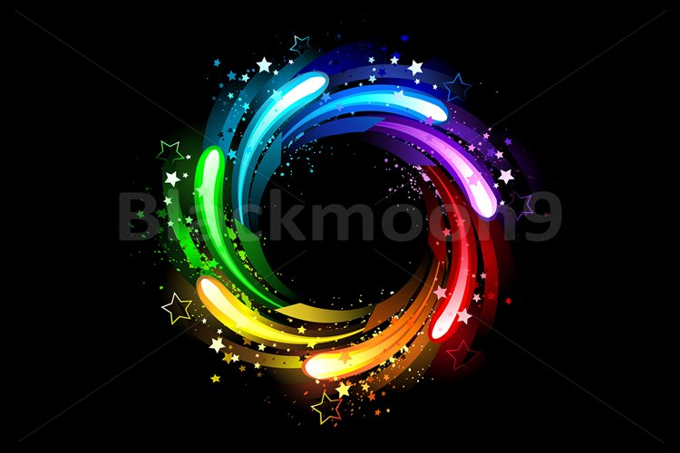 Round Rainbow Banner example image 1