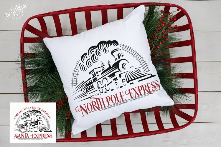 Santa Express North Pole Express Train SVG   DXF