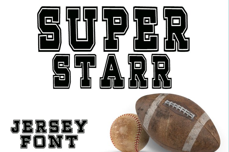 Super Starr Throwback Font example image 1