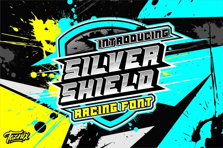Silver Shield Racing Font example image 1