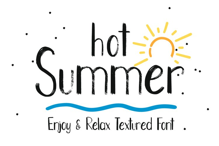 Hot Summer Textured Font example image 1