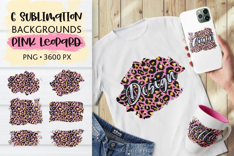 Sublimation Pink Leopard Skin Distressed Backgrounds PNG