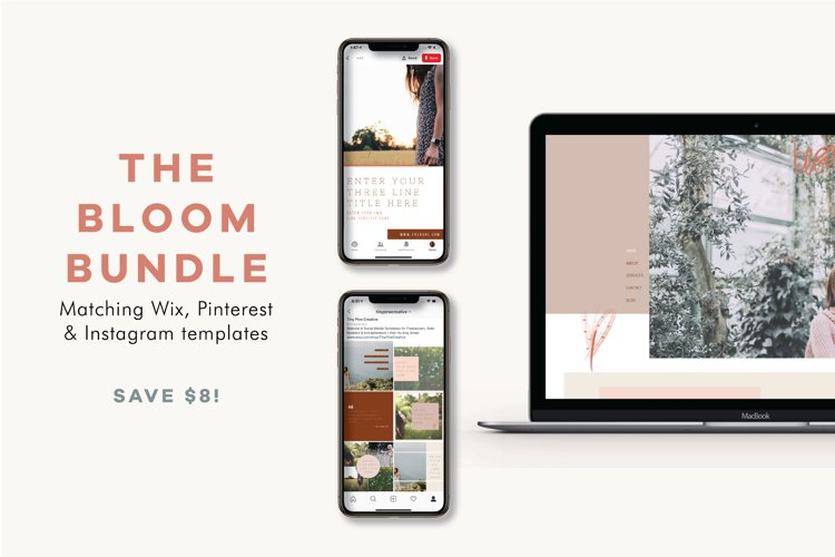The Bloom Bundle | Wix Template | Social Templates example image 1