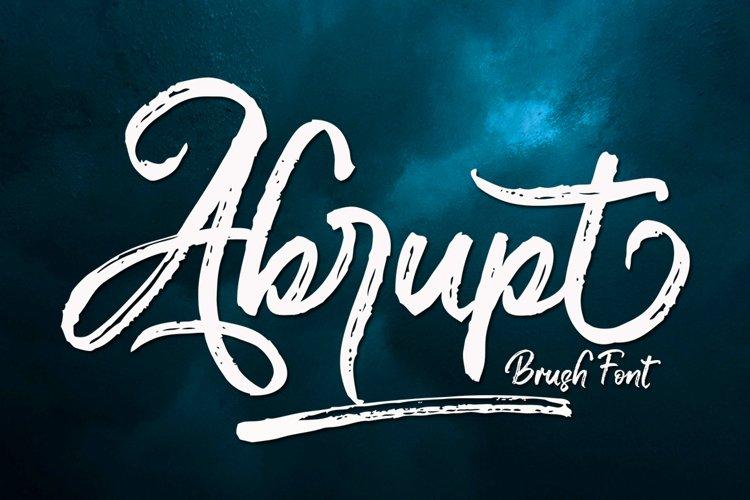 Abrupt - Brush Font