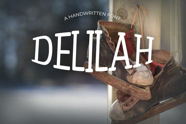 Delilah Vintage Font example image 1