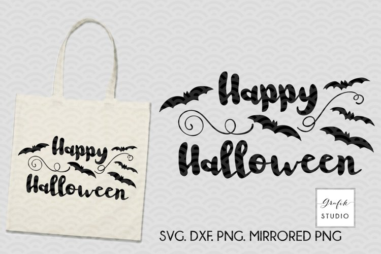 Happy Halloween SVG File, DXF and PNG File example image 1