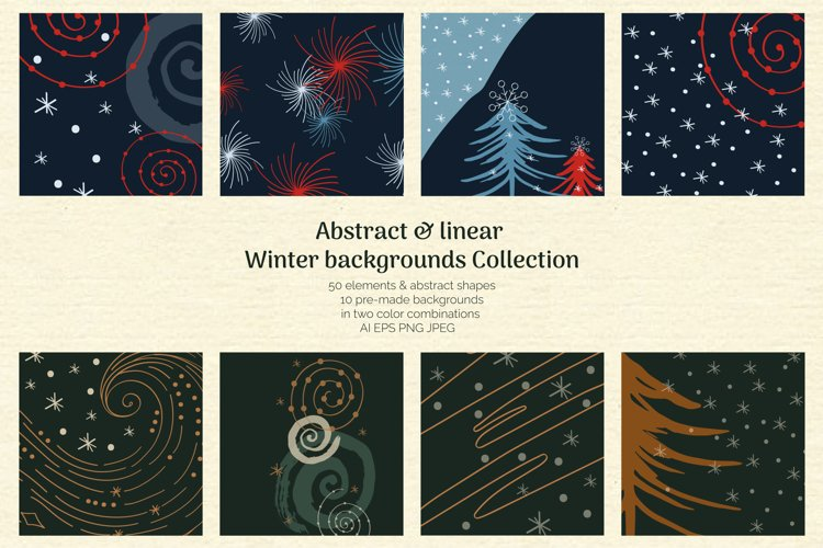 Abstract Linear Winter Background Collection example image 1