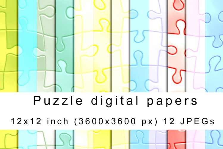 Puzzle digital papers