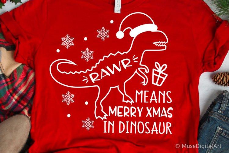 Rawr Means Merry Christmas in Dinosaur, Kids Christmas Svg