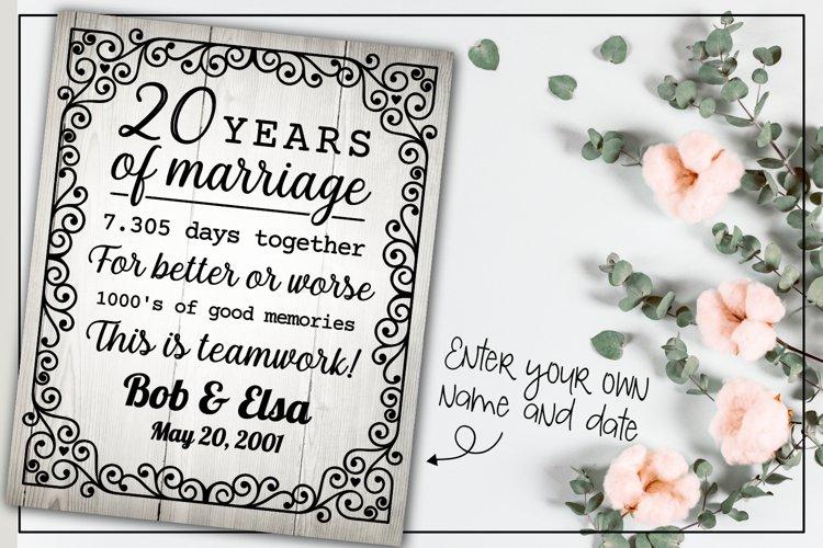 20 years wedding anniversary