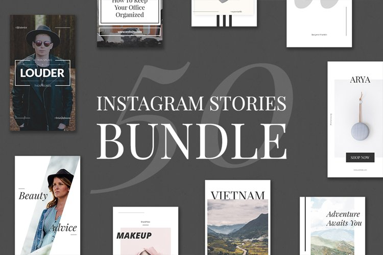 50 Instagram Stories Bundle example image 1