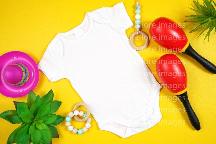 Cinco De Mayo Baby Bodysuit Romper SVG Mockup Styled Photo