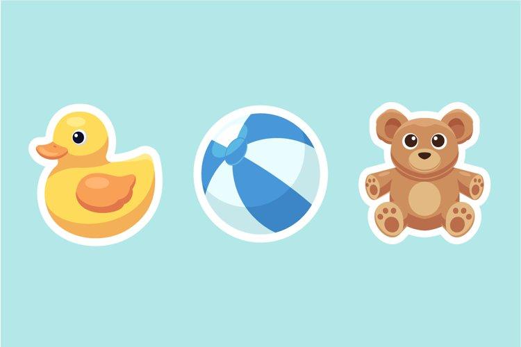 Baby Toys Sticker Illustrations