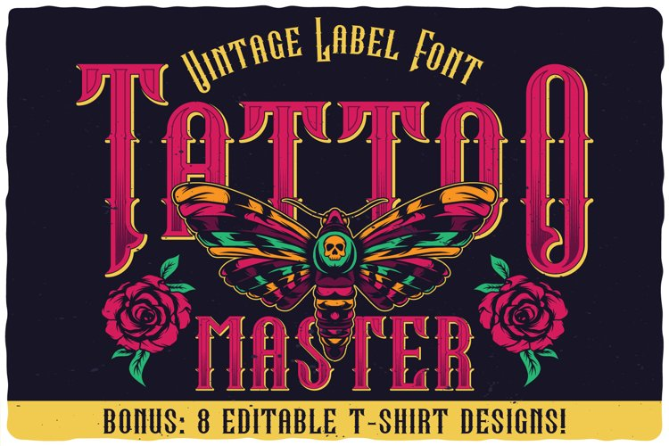 Tattoo Master. Font and graphics. example image 1