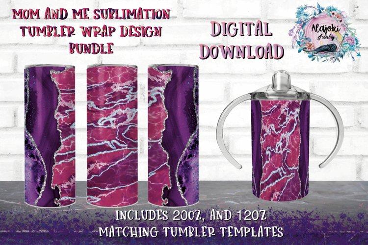 20oz| 12oz |Sublimation Agate Tumbler Wrap |Design Bundle example image 1