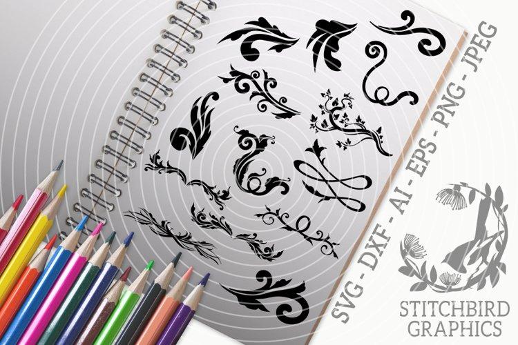 Elegant Dividers SVG, Silhouette Studio, Cricut, Eps, Jpeg