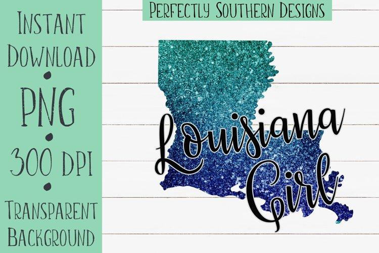 Louisiana Girl glitter state example image 1