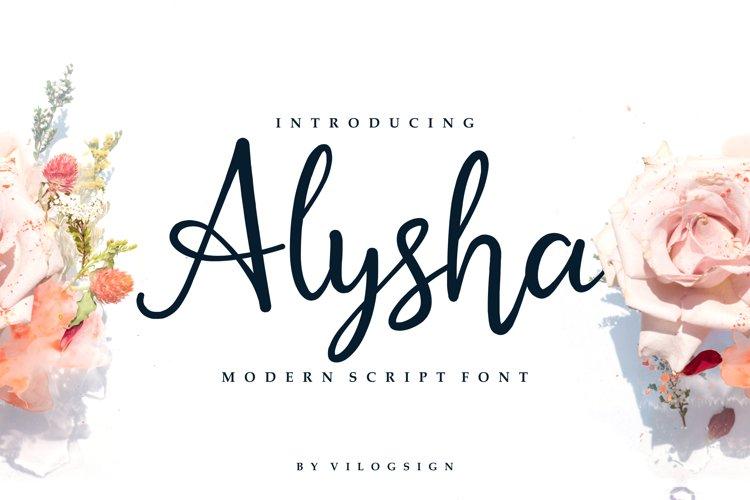 Alysha // Modern Script Font example image 1