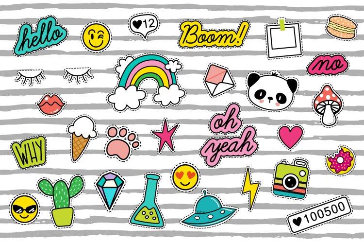 Pop Art 80s patches + 10 patterns