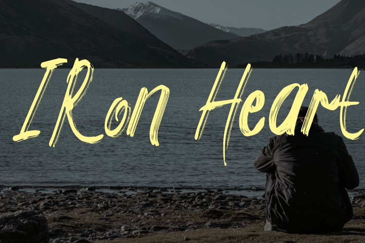 Iron Heart Brush Script example image 1