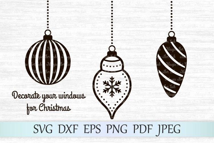 Christmas balls SVG, Christmas ornaments SVG, Christmas SVG example image 1