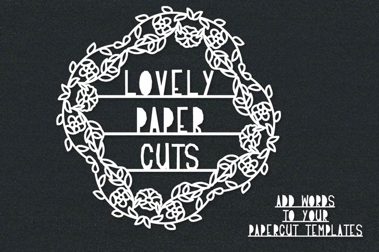Lovely Paper Cuts - A Papercut Lettering Font example image 1