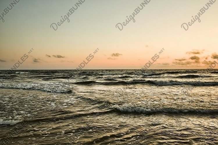 sunset on the Baltic sea example image 1