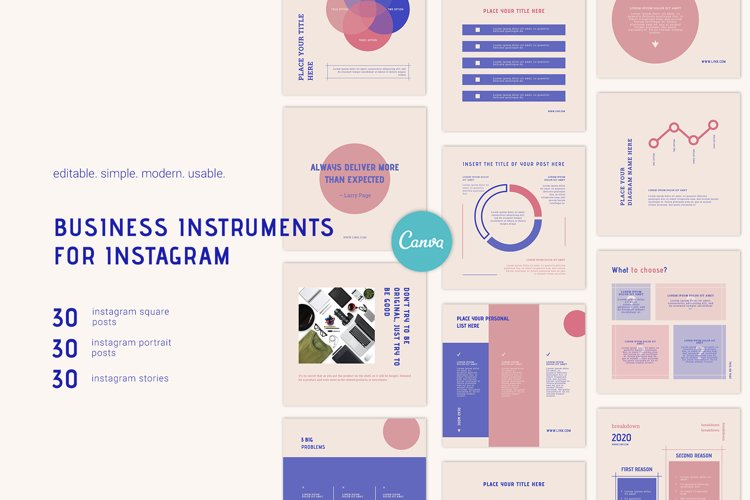 Instagram Canva Templates for Coach