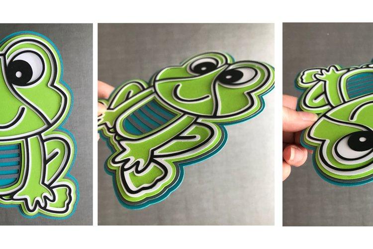3D Layered Frog SVG Design - Free Design of The Week Design1