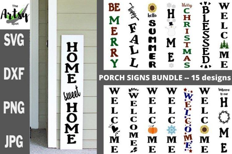 Front Porch Wood Sign Bundle svg porch signs bundle svg dxf example image 1