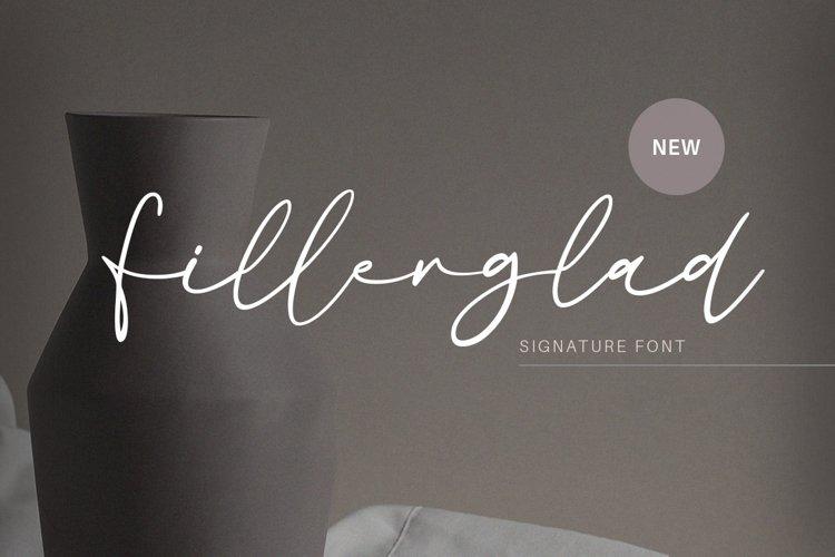 Fillerglad - Signature Font example image 1
