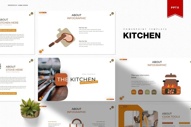 The Kitchen | Powerpoint, Keynote, GoogleSlides Template example image 1