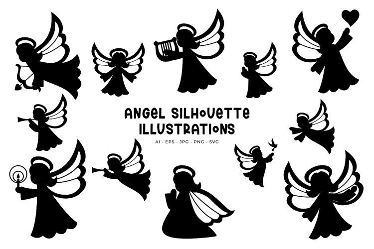 Angel Silhouettes illustrations
