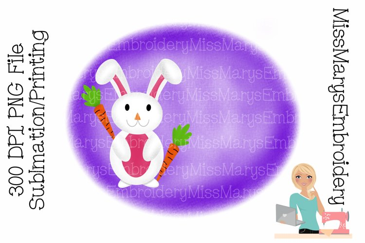 Spring Bunny Sublimation | Sublimation Background | PNG