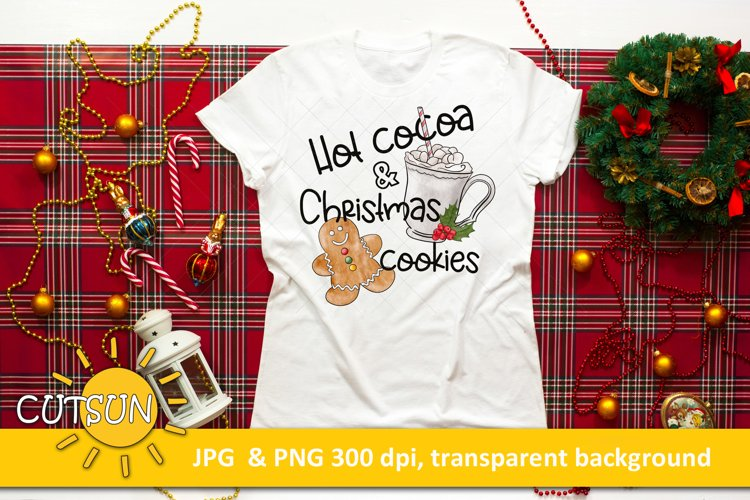Christmas Sublimation Design Hot Cocoa & Christmas cookies example image 1