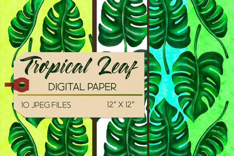 Tropical Leaf Digital Paper