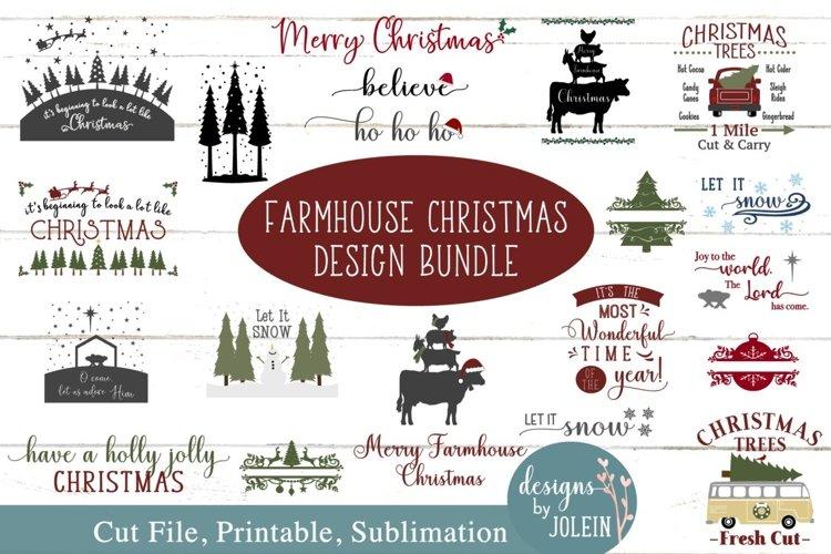 Farmhouse Christmas Bundle SVG, png, eps, sublimation, print example image 1