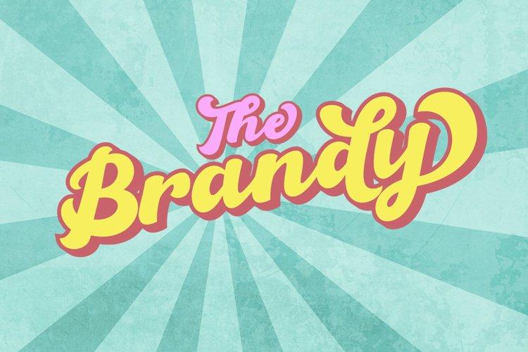The Brandy Bold Retro Script example image 1
