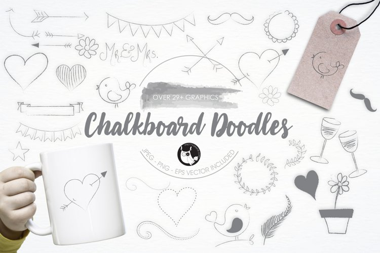 Chalkboard Doodles graphics and illustrations - Free Design of The Week Font