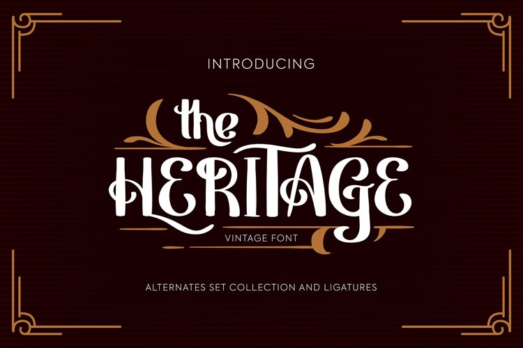 Heritage | Vintage Font example image 1