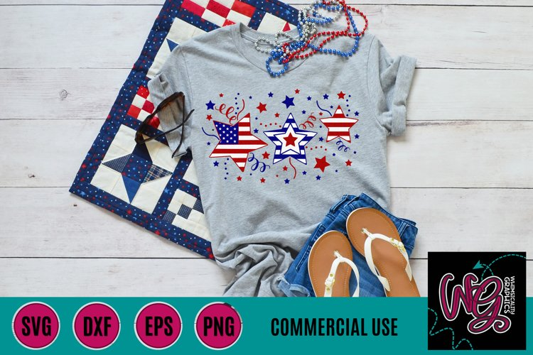 July 4th Stars American Flag SVG DXF PNG EPS Comm