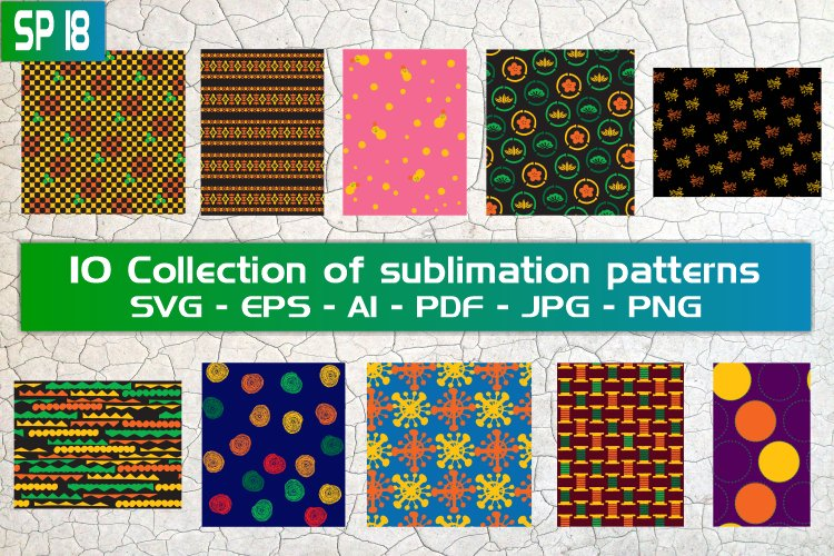 SP18, 10 Collection of sublimation patterns
