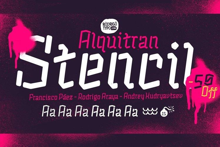 Alquitran Stencil example image 1