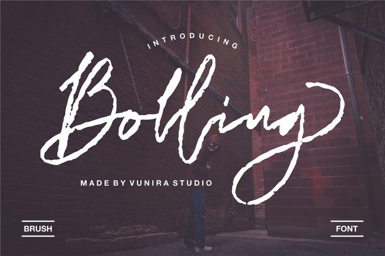 Bolling   Brush Font example image 1