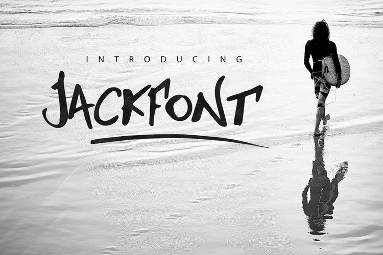Jackfont Script Typeface example image 1