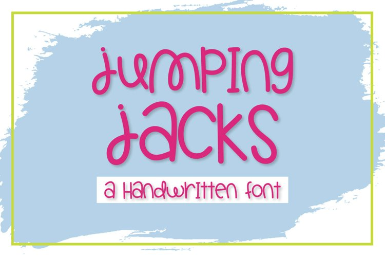 Jumping Jacks - A Handwritten Font example image 1