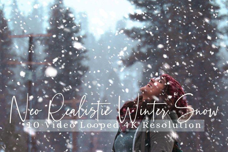 10 Neo Realistic Winter Snow Overlays