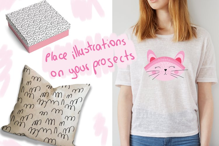 Cute Cats and Patterns example 3