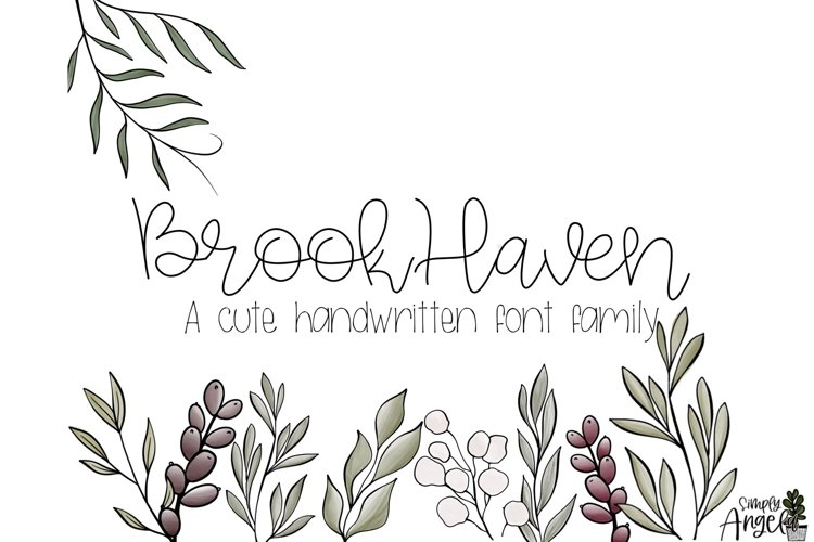 BrookHaven - a smooth handwritten script font example image 1