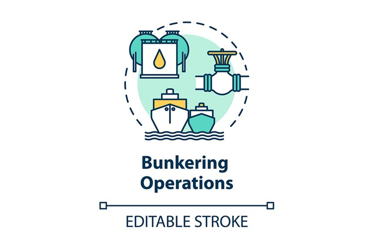 Bunkering operation concept icon example image 1
